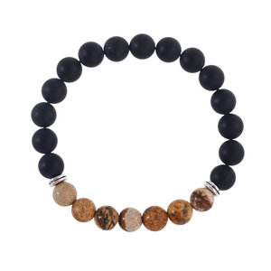 New Products 2016 Mens Lion Head Bead Bracelet Gemstone Bead Buddha Bracelet Natural Stone Bracelet Bead Jewelry