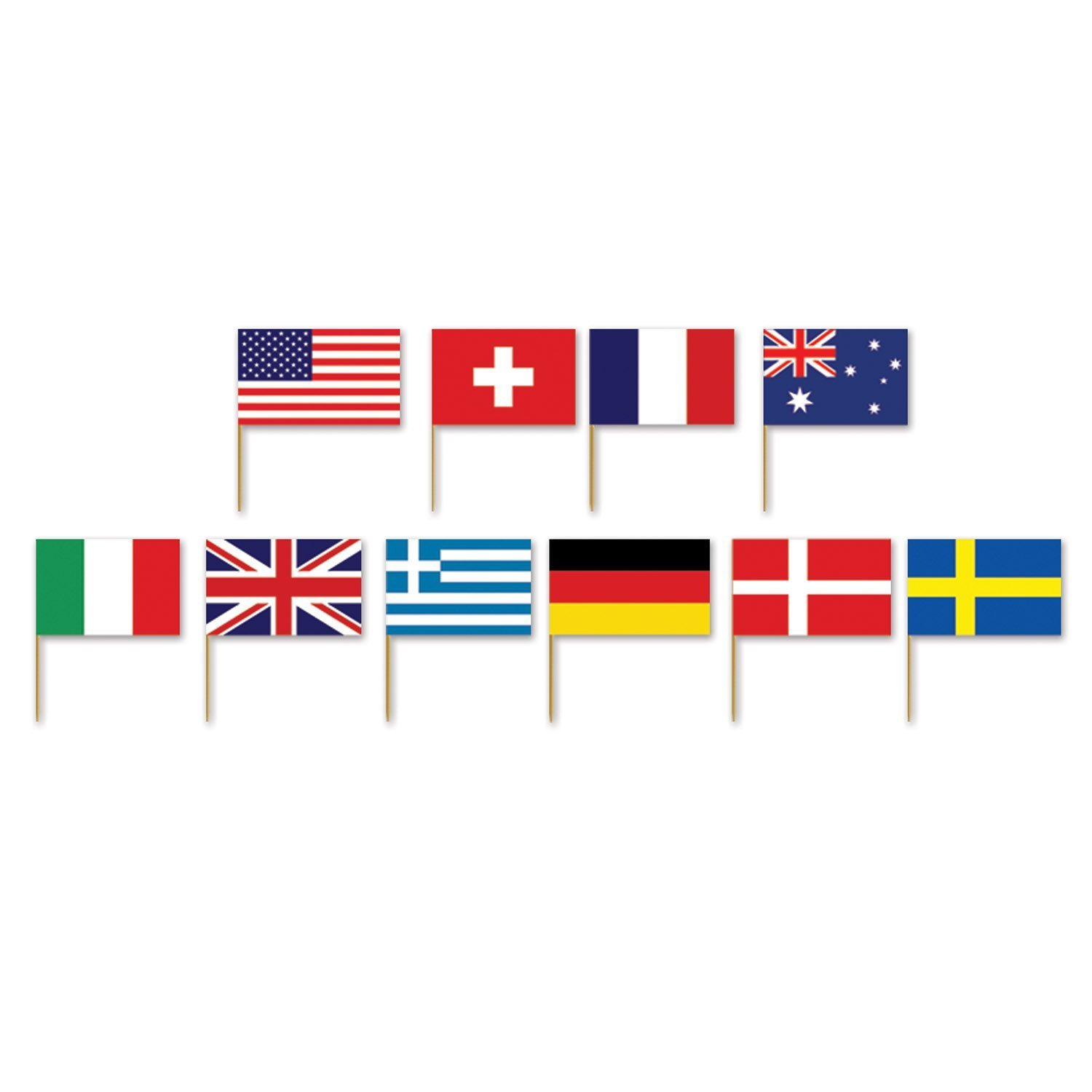 International Flag Picks (asstd designs) (50/Pkg) (3-pack)