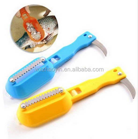 Kitchen Tool Stainless Steel Fish Scales Brush Shaver Remover Cleaner Descaler Skinner Scaler Fishing Tools Knife