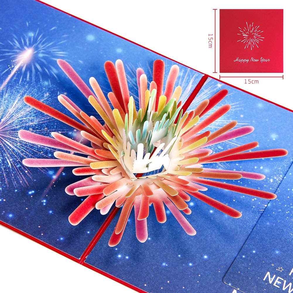 get quotations paper spiritz fireworks pop up happy new year cards laser cut 3d happy new year
