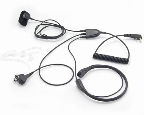 High Quality Throat Mic With Finger Ptt For Kenwood Tk 255tk260gtk