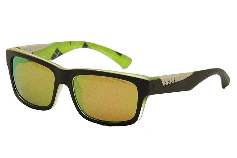 304126f8d0878 Get Quotations · Bolle Sport Lifestyle Jude Sunglasses Frame 11835 Matte  Black  Lime New