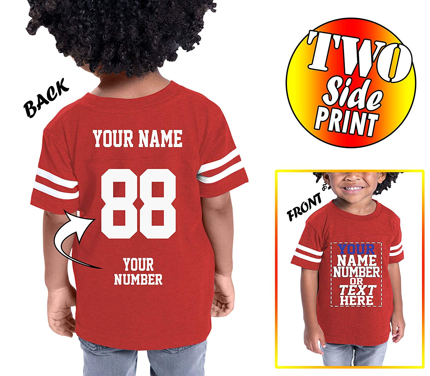 Tee Miracle Custom Cotton Jerseys For Toddlers And Kids