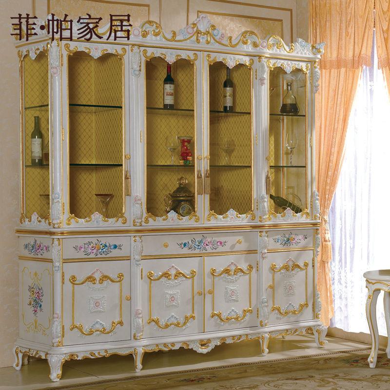 francs provincial sala de muebles mobiliario tallado a mano cellaret madera maciza