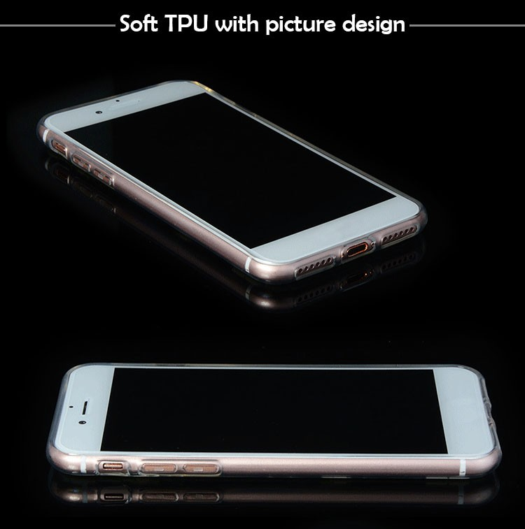 Factory price wholesale ultra thin transparent print tpu cell phone case for iphone 7 7 plus