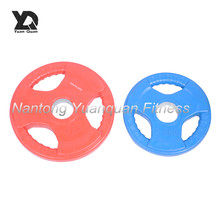 Wholesale High Quality Colorful Tri-grip Bumper Rubber Coated Weight Plate