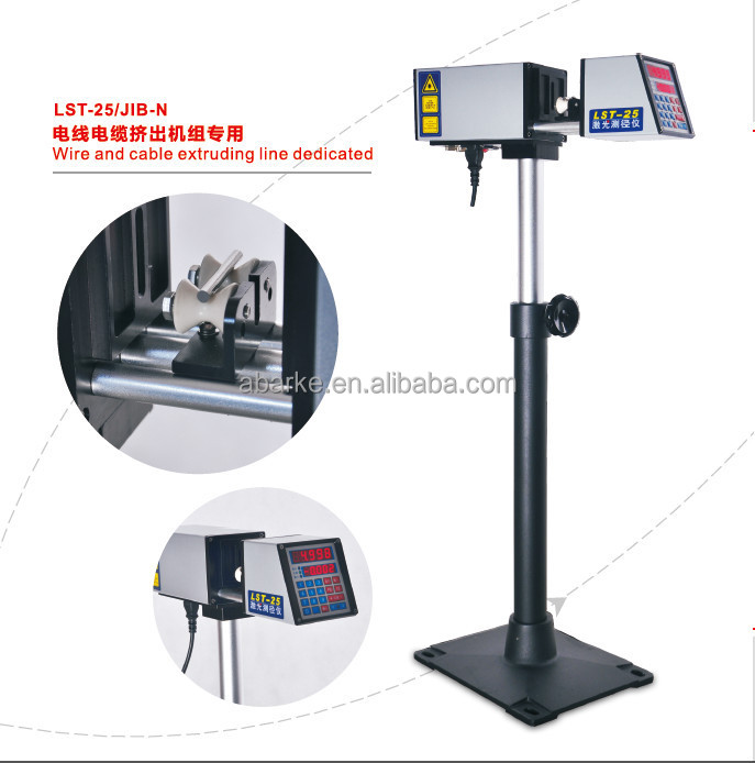 Pipe wire and cable diameter measure instrument laser