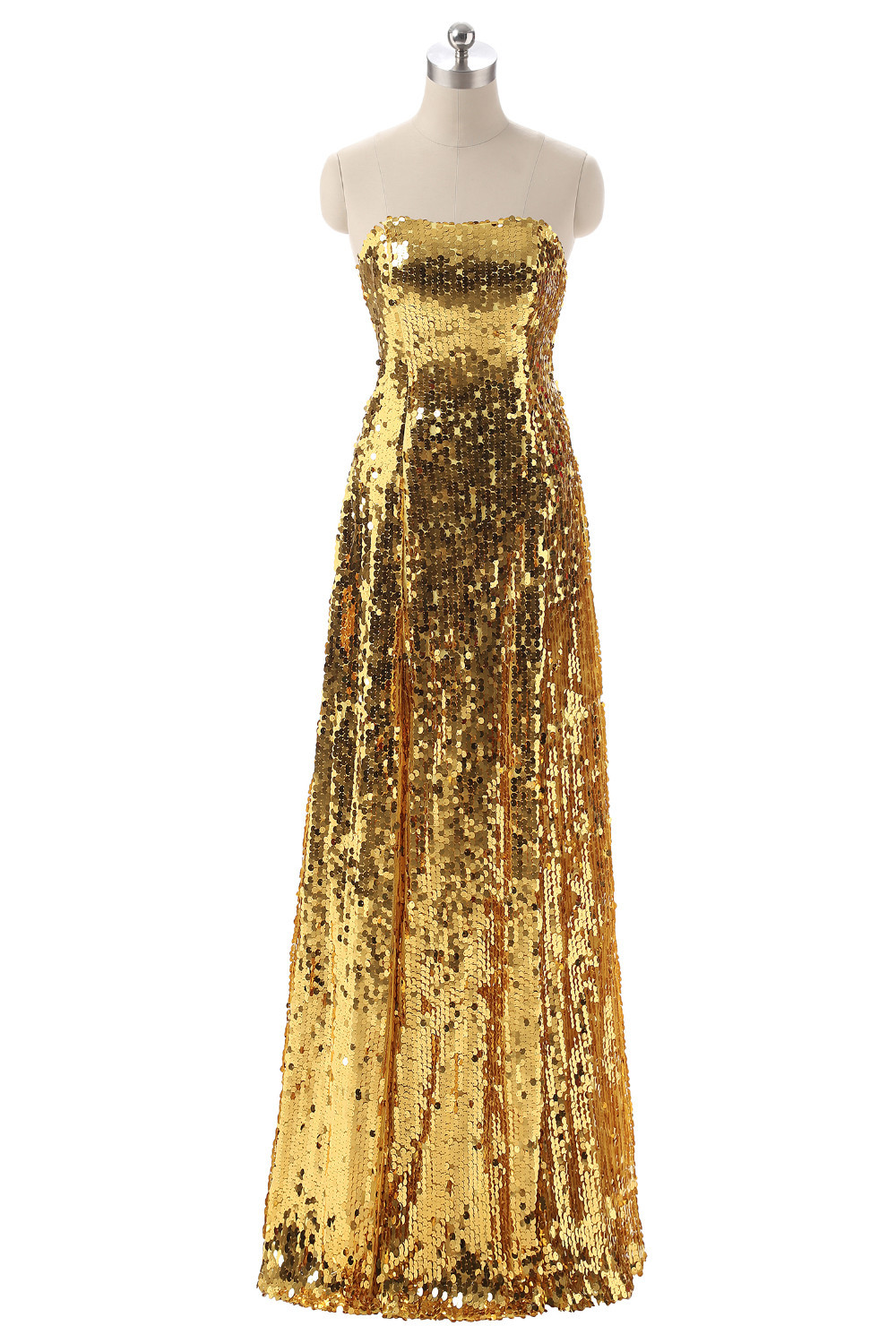 On413 Customized Luxury Gold Silver Long Sequin Evening