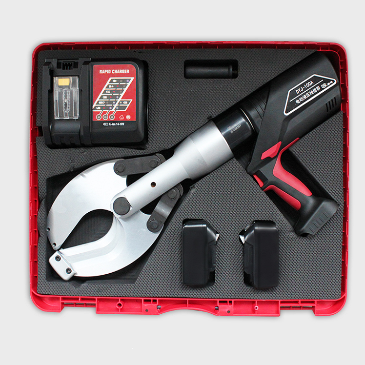 20Ton 100mm battery powered hydraulic electrical cable wire cutter heavy duty cordless cutting tool machine