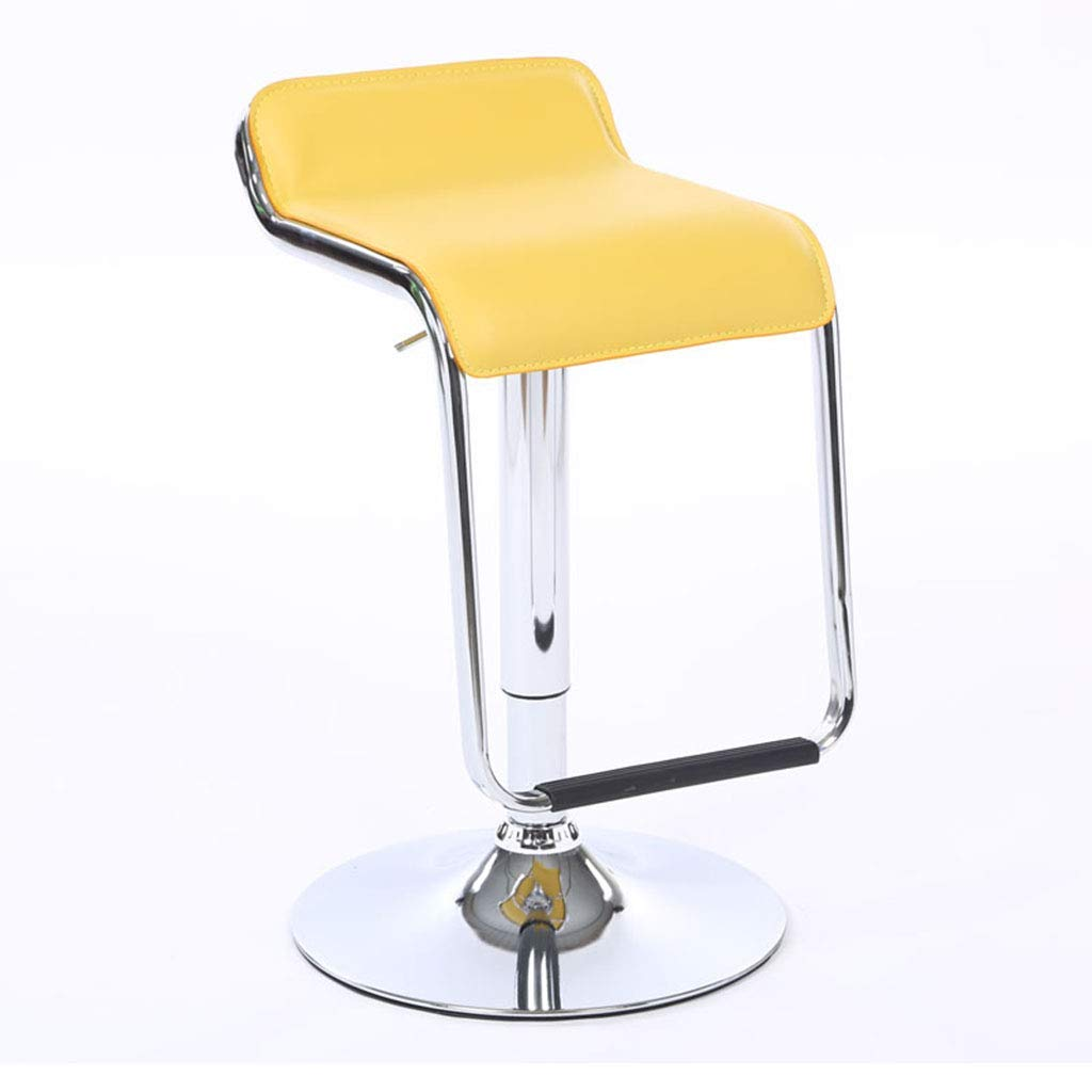 YANGXIAOYU Bar Stools, Chairs, Chair Lifts, Modern Minimalist Bar Chairs, High Stools, Stylish Bar Stools at The Front Desk, Cashier Chairs, Swivel Chairs (Color : Yellow)