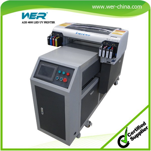Hot selling! a2 WER-EH4880UV digital flatbed printer FREE rip software provided a2 digital,uv printer