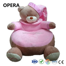 cheap new design 2018 custom animal plush children kids sofa pink teddy bear chair