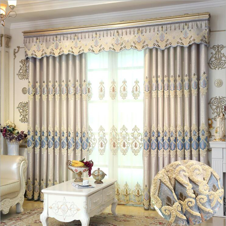 Luxury European Style Curtains With Valance Embroidery Curtains For Living  Room Modern Window Curtain For Bedroom Lace - Buy Valance Swag Curtains ...