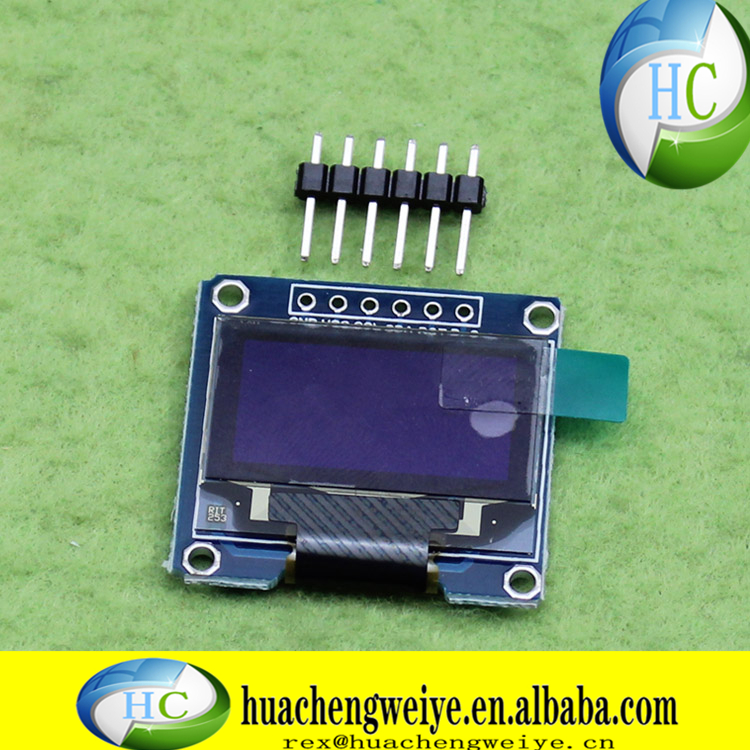 096 inch OLED display 12864 LCD module SPI interface 12864