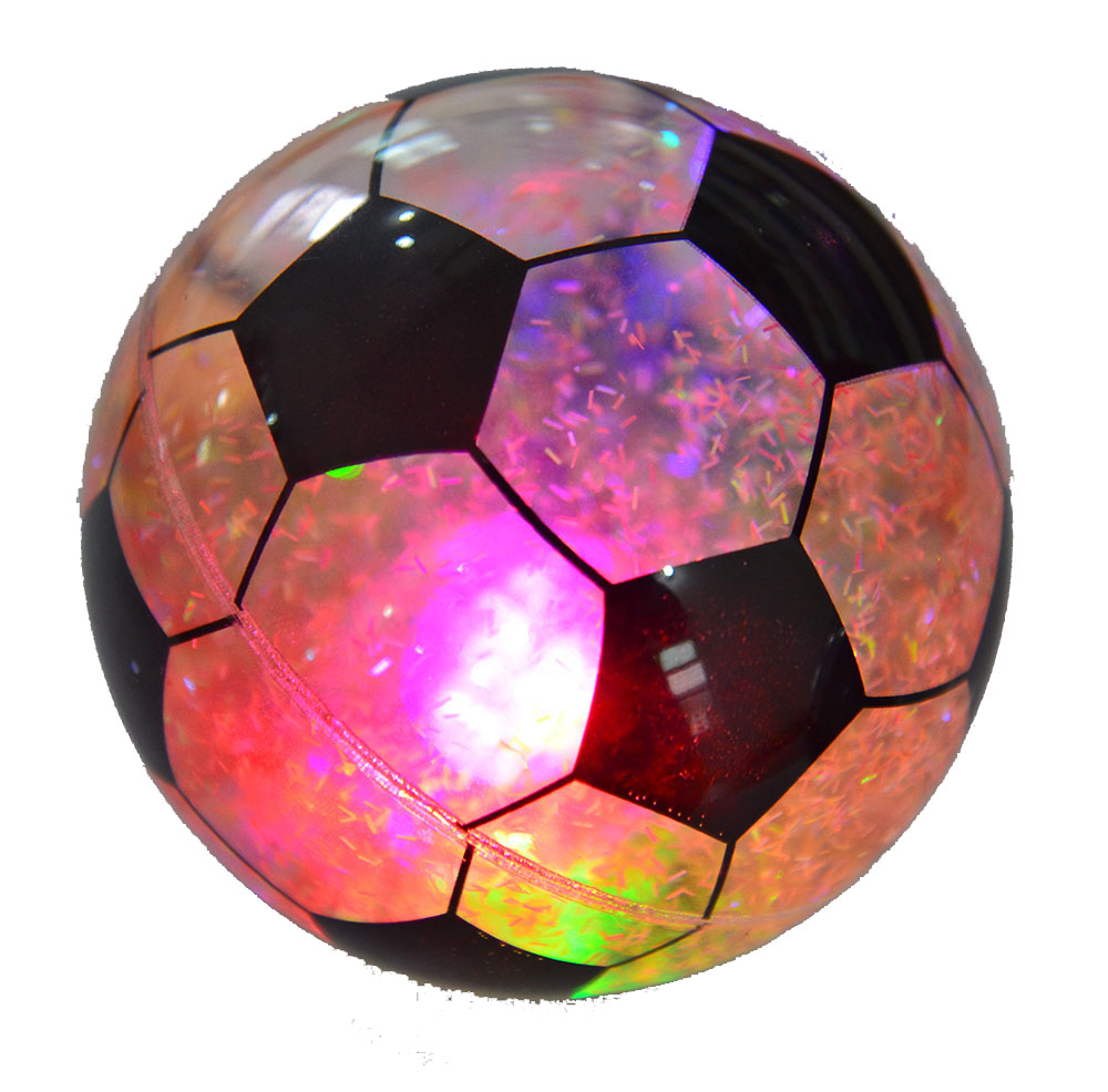 led flashing light toy water filled weight ball football