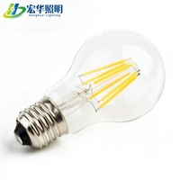 A60 A19 4W E27 Clear residential lighting 360 degree LED filament bulb
