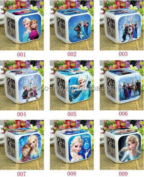 (Hot) 2016 Hot Movie Frozen LED Alarm Clock, Digital Alarm Clock, Cartoon Clock for Kids