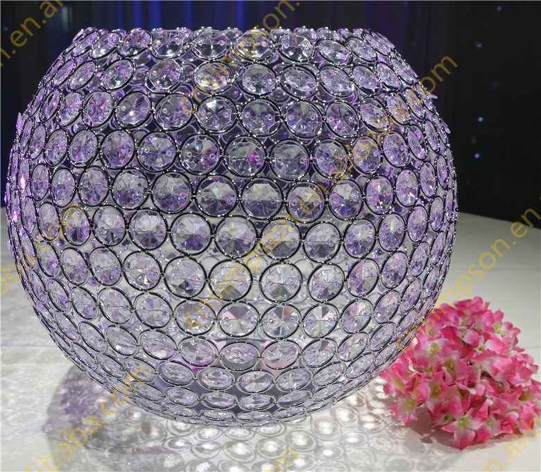 Crystal ball light candle holder home <strong>decor</strong>