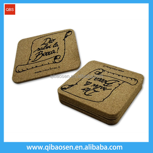 2016 hot selling China factory custom logo printing cheap promotional price wholesale cork coasters