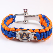 HOT SALE Sports Jewelry Auburn National Football NCAA Championship Rope Team Bracelet