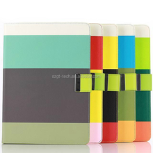 For ipad air 2 Rainbow wallet leather case case with credit card slot and stand.