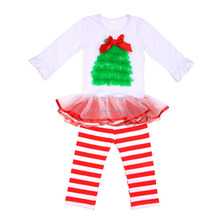 Bulk wholesale kids clothing for childrens christmas boutique clothing 2pcs teletubby suits .