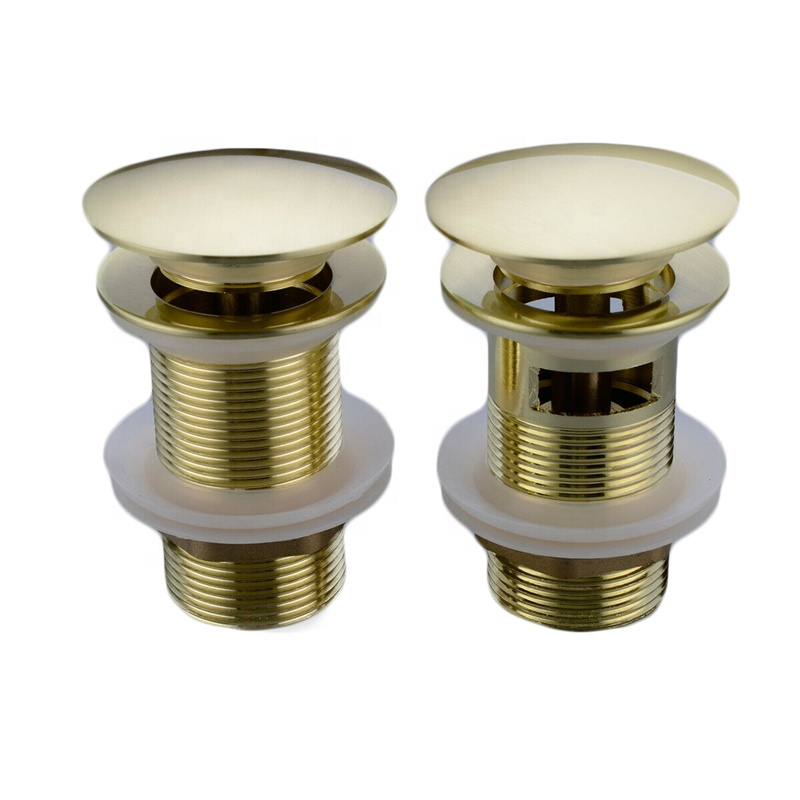Solid Brass Bathroom Lavatory Sink Pop Up <strong>Drain</strong> With/Without Overflow Gold Finish bathroom parts faucet accessories
