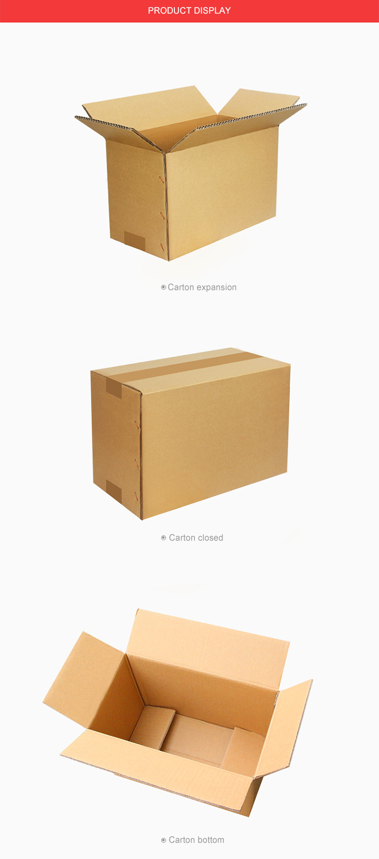 Manufactory direct selling custom paper packaging corrugated carton box