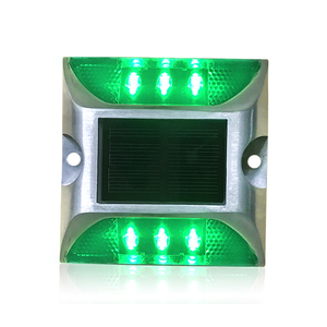 Road safety Embedded reflective LED aluminum solar road stud