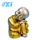 Cute resin statue little monk figurine little buddha statue