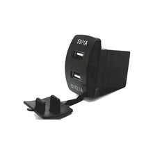 Automobiles 5 V <span class=keywords><strong>Auto</strong></span> 3.1A Black Dual USB Socket Met Cover