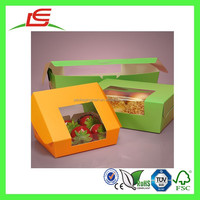 Q1142 New Design Custom Large Paper Bread Box With Window, Bakery Box Wholesale