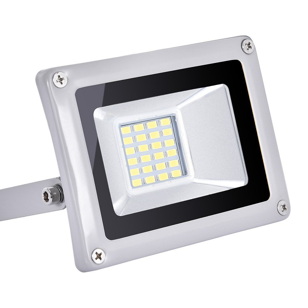 20w Led Flood Light Outdoor, IP65 Waterproof, led Light Bulbs High Power Equivalent, Super Bright Security Lights, Floodlight Landscape Wall Lights by Coolkun (Cold White, 20W)