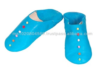 Moroccan genuine leather slipper for women