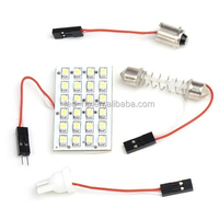 super brightness festoon t10 panel car 24smd 3528 1210 interior reading led car light
