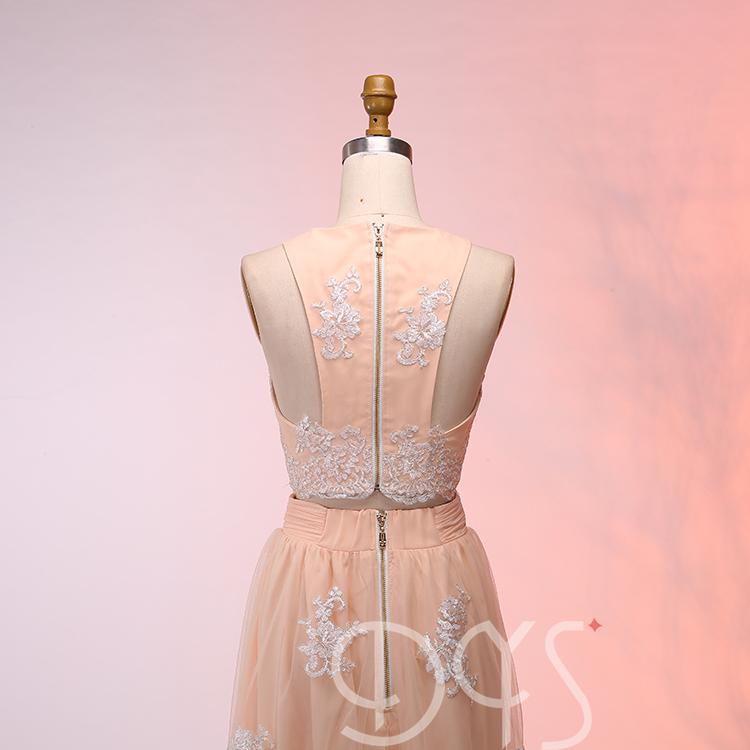 Dressystar 2018 nuevo diseñador dos piezas vestido de fiesta largos ...