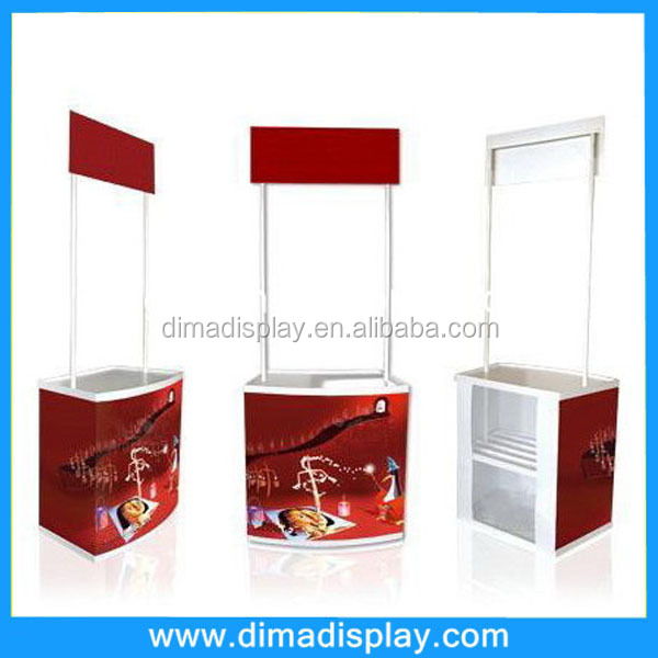 hot sale PVC plastic portable display promotion counter