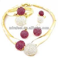 best selling high quality costume jewelry gold filled jewelry set indian gold jewelry