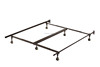 6-Leg Heavy Duty Adjustable Metal Queen/Full/Full XL/Twin/Twin XL Bed Frame With Rug Rollers & Locking Wheels