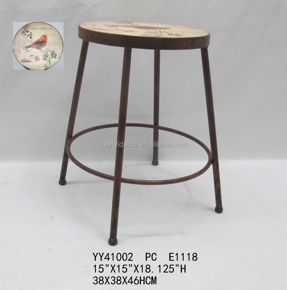 Home Decorative Metal Stool Round