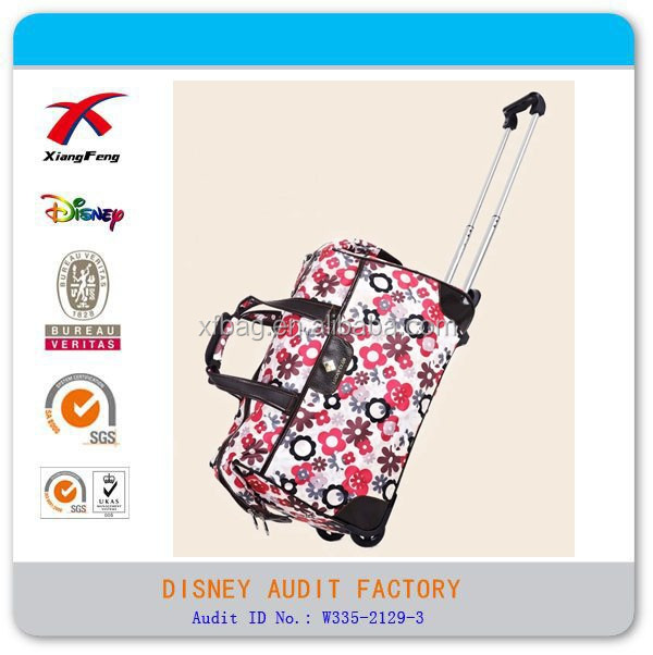 2015 XF Nylon Fashion Travel Bag Flowers Business Luggage Bag