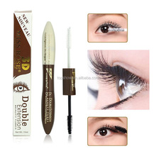 Miss Rose Makeup Beauty long-lasting 3d fiber lash with brush inside wholesale Black White Double Extension mascara