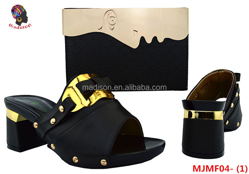 Gzmadison african shoes and bags to match women shoes fashion shoes and bag set 2017 wedding/MJMF04-1