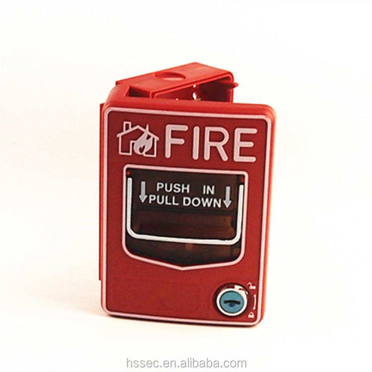 Haisheng hottest resettable fire alarm manual pull stations conventional for fire alarm panel