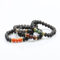 2019 New arrival natural stone beads colliding bracelet for men's bracelet