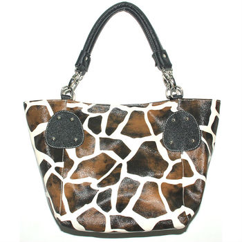 Fashion Las Leather Animal Print Handbags And Purses Whole