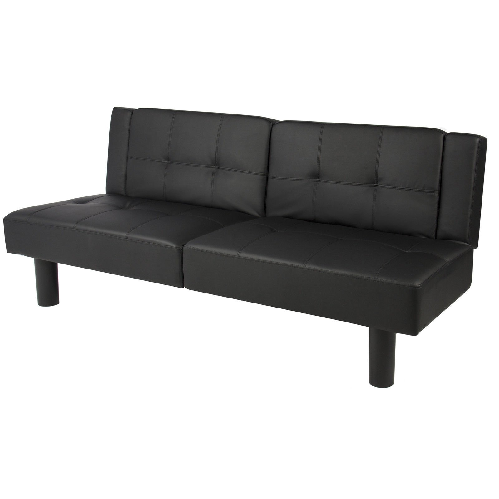 get quotations    ltl black leather convertible faux fold down futon sofa bed couch sleeper furniture lounge cheap single bed sofa bed find single bed sofa bed deals on line      rh   guide alibaba