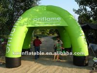 green outdoor inflatable tent