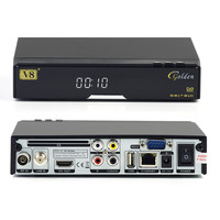 OEM accept worldwide mpeg4 hd digital tv decoder DVB-S2+T2+Cable Signal Support Satellite Receiver V8 Golden
