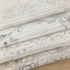 100%Polyester Golden and Silver Stamped Pleated Chiffon Fabric for Dress in Spring and Summer
